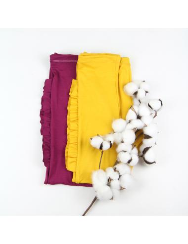 Jersey leggings with ruffle